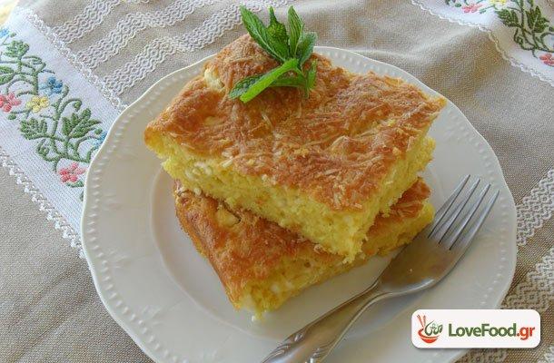 Εύκολη τυρόπιτα χωρίς φύλλο (τεμπελοτυρόπιτα)