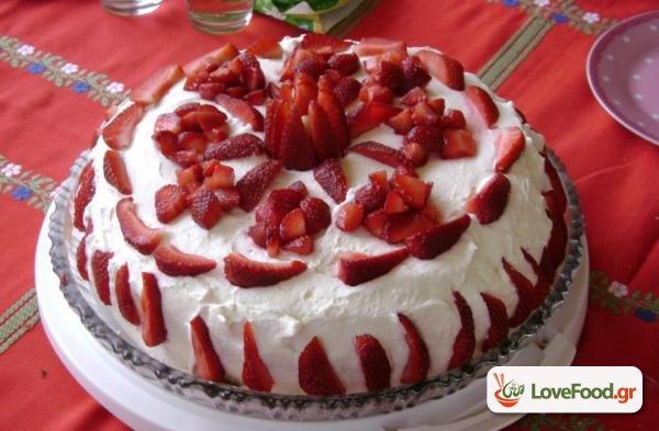 Τούρτα Φράουλα -