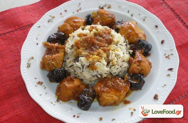 Αρωματικό κοτόπουλο με δαμάσκηνα. Μαροκινο-ελληνική συμφωνία