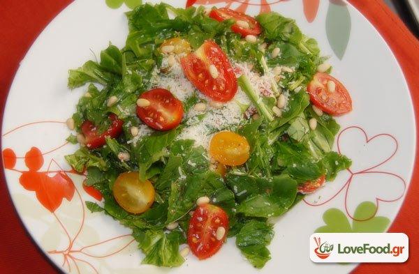 Ρόκα παρμεζάνα με ντοματίνι, η πιο ροκ σαλάτα