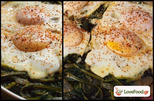 Τσιγαριστά χόρτα με αυγά ποσέ, με αγάπη από το Πήλιο.
