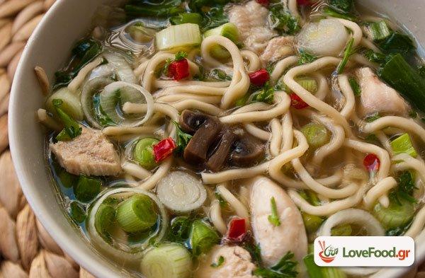 Σούπα νουντλς με κοτόπουλο (chicken noodle soup), Χιγιά!